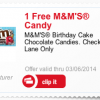 Free Birthday Cake M&Ms
