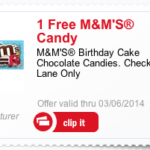 Free Birthday Cake M&Ms with mPerks Offer Code