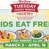 Bob Evans Kids Eat Free Weeknights Thru April 18th