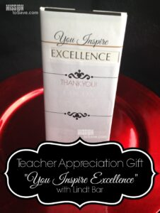 Teacher Appreciation Gift using Lindt Bar (+ free printable)