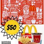 Enter to Win $50 McDonald's Gift Card! #McDonalds