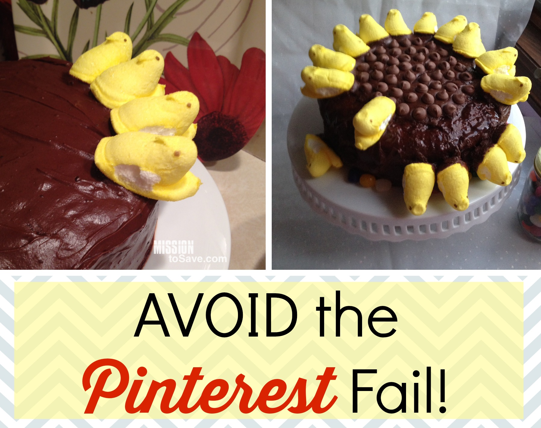 Making that adorable Peeps cake?  Learn how to avoid the Pinterest fail!
