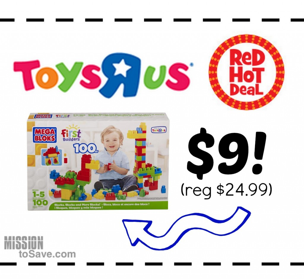 red hot deal on mega blocks first builders at toysrus