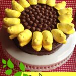 Sunflower Peeps Cake Recipe with Homemade Chocolate Frosting