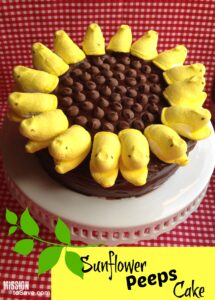 sunflower peeps cake recipe