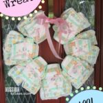 DIY Diaper Wreath to Welcome Baby Home!