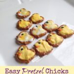 "Easy Pretzel Chicks Recipe + ""Tweet"" Easter Printable Tags"