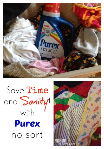 purex no sort laundry detergent.