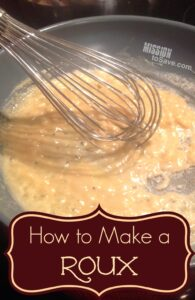 How to make a roux. Classic cooking technique. Great for last minute recipes.
