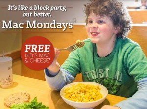 Noodles and Company Kids Eat Free Monday