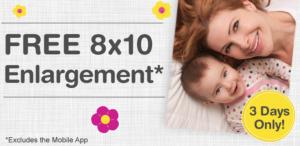 free 8x10 from Walgreens
