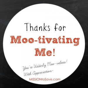 Thanks for Mootivating Me FREE printable tags
