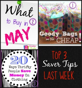 Top 3 Saver Tips posts from last week.  COme link up and you could be in the top 3 next week!