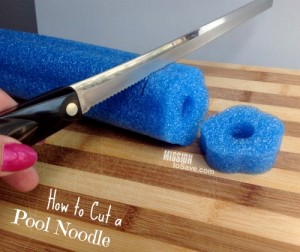 How to cut a pool noodle for craft and DIY projects.
