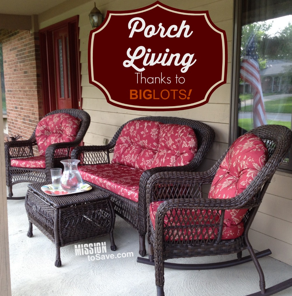 Marvelous Loving Porch Living With Patio Set From Big Lots #GoBig! #sponsored    Mission: To Save