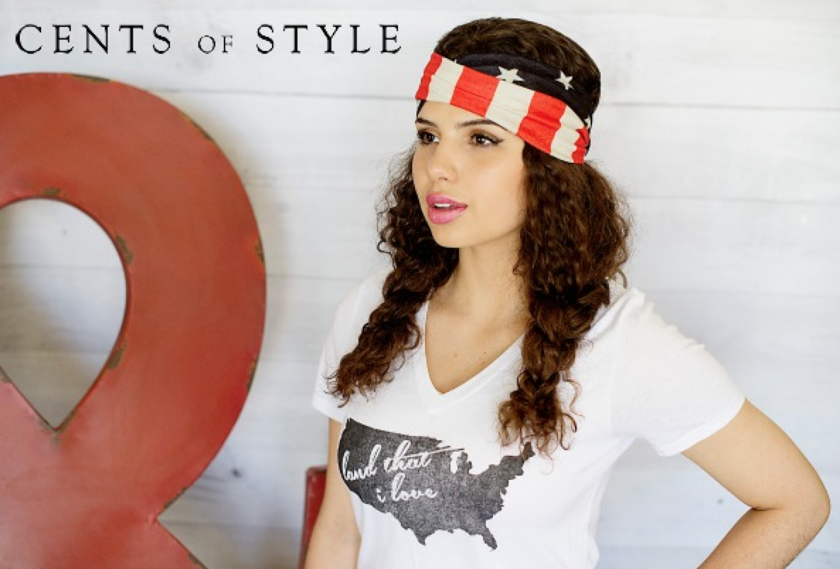 """Snag this """"Land That I Love"""" Graphic Tee today.  Americana Fashion from Cents of Style"""