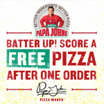 Free Papa John's Pizza on Future Purchase via Papa Rewards Online Order
