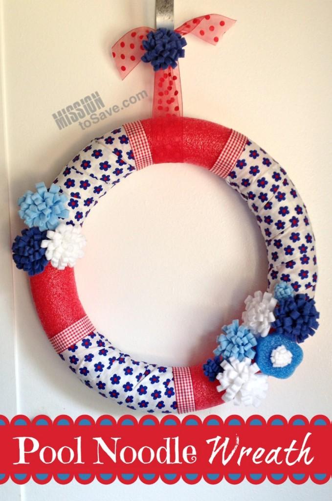 DIY Pool Noodle Wreath