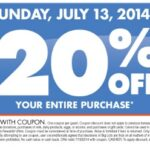 Big Lots 20% Off Coupon is Back!  Buzz Club Rewards Members 7/12, All Shoppers 7/13