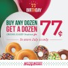 Krispy Kreme Birthday BOGO Offer on 7/11.