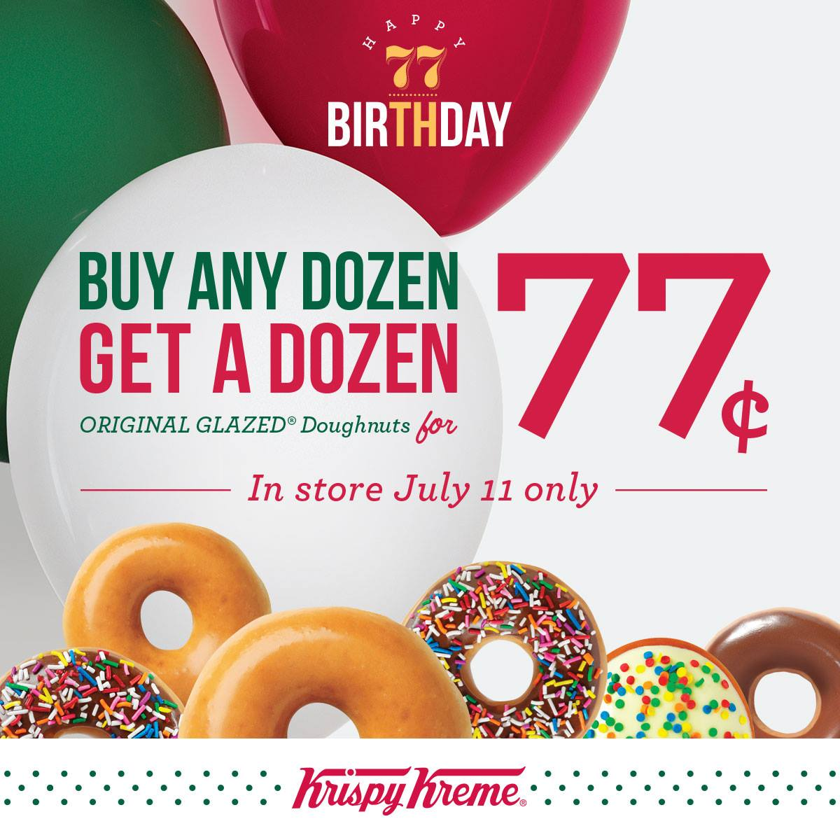 There are several restaurants offering freebies and sweet deals on National Dessert Day. Krispy Kreme doughnuts are pictured their store in Washington, DC, Dec. 1, but they will also.