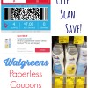 Clip, Scan, Save with Paperless Coupons in the Walgreens app