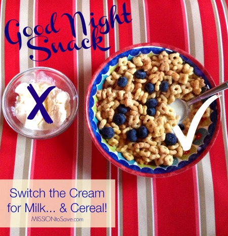 Switch out ICe Cream for Milk and Cereal! #GoodNightSnack #shop #cbias