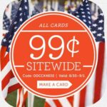 $0.99 Cardstore Personalized Cards Labor Day Weekend Sale