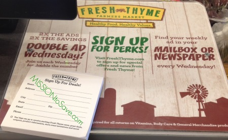 Fresh Thyme Double Ad Wednesday
