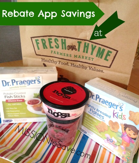 Rebate App Savings at Fresh Thyme Market