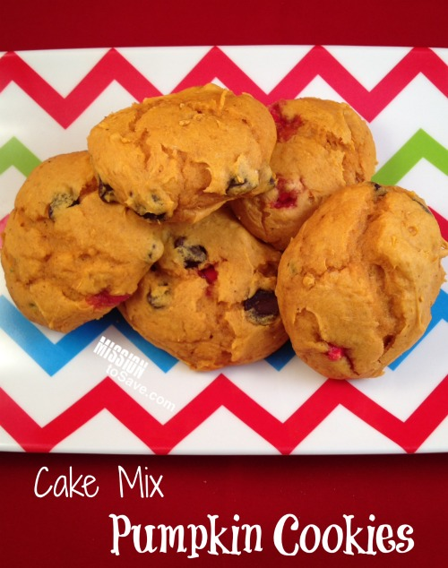 Cake Mix And Can Of Pumpkin Cookies