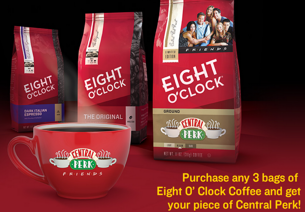Eight O'Clock Coffee and Friends Free Central Perk Coffee ...