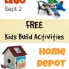 FREE Kids Build Activities at Lego and Home Depot