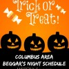 2016 Columbus Trick or Treat Schedule (Central Ohio Area)