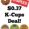 *HOT* Staples K-Cups Deal: As Low as $0.37 Each!
