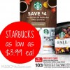 starbucks bagged coffee target gift card deal
