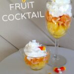 Candy Corn Fruit Cocktail is the perfect healthy treat to your sweeties.