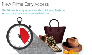 Now Amazon Prime members get early access to select Lightning Deals. Just in time for holiday shopping!