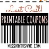 Last Call for September!  Get Printable Coupons Before They're Gone!