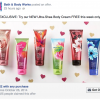 Free Full Sized Bath and Body Works Cream