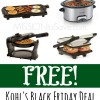 Kohl's Black Friday Small Appliance Rebate Offer- 3 FREE (Includes Crock Pot!)