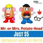 Classic Mrs. or Mr. Potato Head Just $5 (Amazon Add On Item)