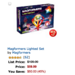 Select Magformers 40% Off (Amazon Black Friday Deal of the Day)