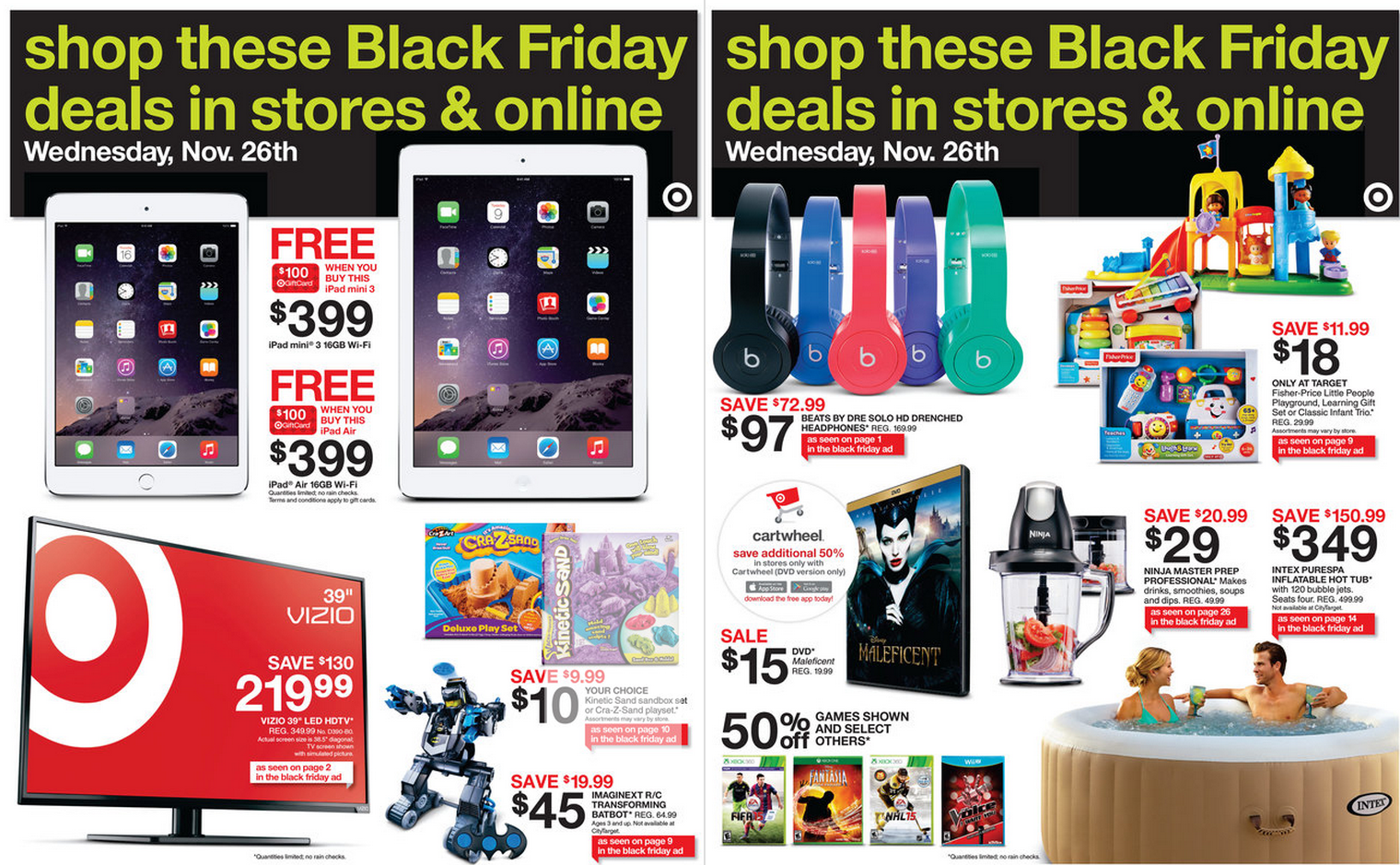 The 30 best Black Friday deals at Target (updated) This year, Target's Black Friday starts early and goes big. Most deals are now available online, and stores will open at 6 p.m. local time on.