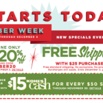 Kohl's Cyber Week Starts Today- 20% off, Free Shipping $15 Kohl's Cash!
