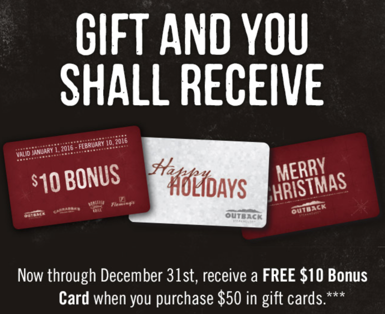 outback gift card deals tis the season for holiday bonus gift card offers 744