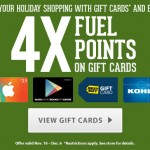 Kroger 4x Fuel Points is Back for Holiday Shopping!