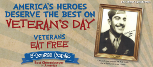 Max & Erma's Veterans Day Deal