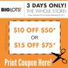 3 Day Big Lots Coupon Offer