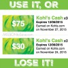 Don't forget your Kohl's Cash from Black Friday, Use it or Lose It